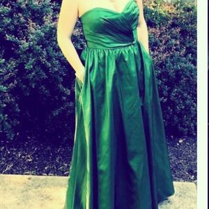 Alfred Angelo green strapless formal dress!